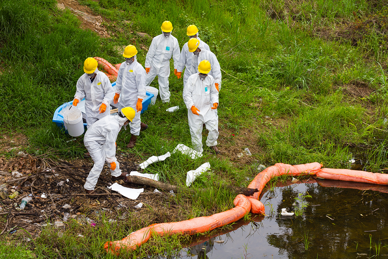 Industrial spill clean-up